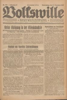 Volkswille : Zentralorgan der Deutschen Sozialistischen Arbeitspartei Polens. Jg.12, Nr. 287 (15 Dezember 1927) + dod.