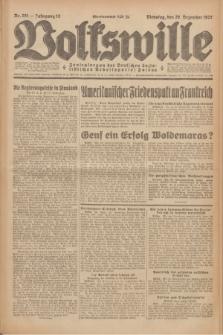 Volkswille : Zentralorgan der Deutschen Sozialistischen Arbeitspartei Polens. Jg.12, Nr. 291 (20 Dezember 1927) + dod.