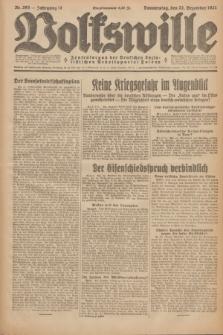 Volkswille : Zentralorgan der Deutschen Sozialistischen Arbeitspartei Polens. Jg.12, Nr. 293 (22 Dezember 1927) + dod.