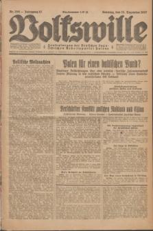 Volkswille : Zentralorgan der Deutschen Sozialistischen Arbeitspartei Polens. Jg.12, Nr. 296 (25 December 1927) + dod.