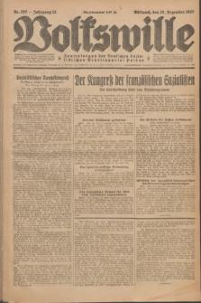 Volkswille : Zentralorgan der Deutschen Sozialistischen Arbeitspartei Polens. Jg.12, Nr. 297 (28 Dezember 1927) + dod.
