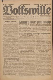 Volkswille : Zentralorgan der Deutschen Sozialistischen Arbeitspartei Polens. Jg.12, Nr. 298 (29 Dezember 1927) + dod.