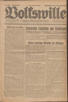 Volkswille : Zentralorgan der Deutschen Sozialistischen Arbeitspartei Polens. Jg.12, Nr. 300 (31 Dezember 1927) + dod.