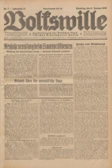 Volkswille : Zentralorgan der Deutschen Sozialistischen Arbeitspartei Polens. Jg.13, Nr. 2 (3 Januar 1928) + dod.