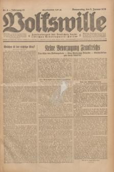 Volkswille : Zentralorgan der Deutschen Sozialistischen Arbeitspartei Polens. Jg.13, Nr. 4 (5 Januar 1928) + dod.
