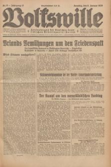 Volkswille : Zentralorgan der Deutschen Sozialistischen Arbeitspartei Polens. Jg.13, Nr. 6 (8 Januar 1928) + dod.