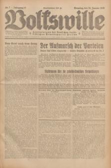 Volkswille : Zentralorgan der Deutschen Sozialistischen Arbeitspartei Polens. Jg.13, Nr. 7 (10 Januar 1928) + dod.