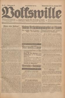 Volkswille : Zentralorgan der Deutschen Sozialistischen Arbeitspartei Polens. Jg.13, Nr. 11 (14 Januar 1928) + dod.