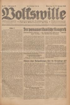 Volkswille : Zentralorgan der Deutschen Sozialistischen Arbeitspartei Polens. Jg.13, Nr. 13 (17 Januar 1928) + dod.