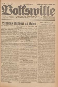 Volkswille : Zentralorgan der Deutschen Sozialistischen Arbeitspartei Polens. Jg.13, Nr. 15 (19 Januar 1928) + dod.