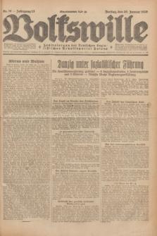 Volkswille : Zentralorgan der Deutschen Sozialistischen Arbeitspartei Polens. Jg.13, Nr. 16 (20 Januar 1928) + dod.