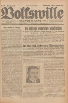 Volkswille : Zentralorgan der Deutschen Sozialistischen Arbeitspartei Polens. Jg.13, Nr. 17 (21 Januar 1928) + dod.