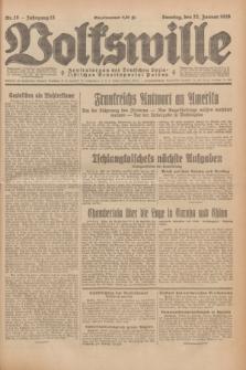 Volkswille : Zentralorgan der Deutschen Sozialistischen Arbeitspartei Polens. Jg.13, Nr. 18 (22 Januar 1928) + dod.