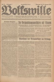 Volkswille : Zentralorgan der Deutschen Sozialistischen Arbeitspartei Polens. Jg.13, Nr. 19 (24 Januar 1928) + dod.