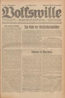 Volkswille : Zentralorgan der Deutschen Sozialistischen Arbeitspartei Polens. Jg.13, Nr. 20 (25 Januar 1928) + dod.