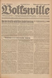 Volkswille : Zentralorgan der Deutschen Sozialistischen Arbeitspartei Polens. Jg.13, Nr. 21 (26 Januar 1928) + dod.