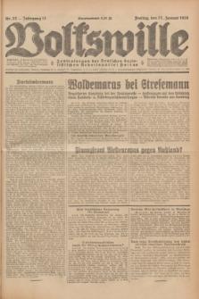 Volkswille : Zentralorgan der Deutschen Sozialistischen Arbeitspartei Polens. Jg.13, Nr. 22 (27 Januar 1928) + dod.