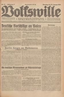 Volkswille : Zentralorgan der Deutschen Sozialistischen Arbeitspartei Polens. Jg.13, Nr. 24 (29 Januar 1928) + dod.