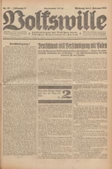 Volkswille : Zentralorgan der Deutschen Sozialistischen Arbeitspartei Polens. Jg.13, Nr. 26 (1 Februar 1928) + dod.