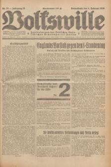 Volkswille : Zentralorgan der Deutschen Sozialistischen Arbeitspartei Polens. Jg.13, Nr. 28 (4 Februar 1928) + dod.
