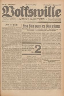 Volkswille : Zentralorgan der Deutschen Sozialistischen Arbeitspartei Polens. Jg.13, Nr. 29 (5 Februar 1928) + dod.