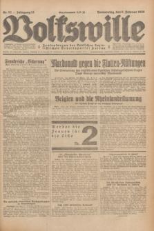 Volkswille : Zentralorgan der Deutschen Sozialistischen Arbeitspartei Polens. Jg.13, Nr. 32 (9 Februar 1928) + dod.