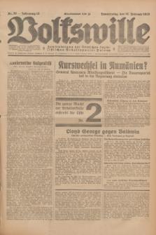 Volkswille : Zentralorgan der Deutschen Sozialistischen Arbeitspartei Polens. Jg.13, Nr. 38 (16 Februar 1928) + dod.
