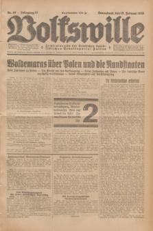 Volkswille : Zentralorgan der Deutschen Sozialistischen Arbeitspartei Polens. Jg.13, Nr. 40 (18 Februar 1928) + dod.