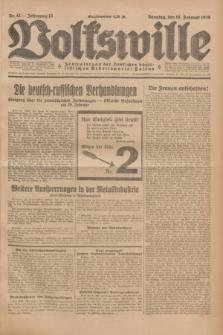 Volkswille : Zentralorgan der Deutschen Sozialistischen Arbeitspartei Polens. Jg.13, Nr. 41 (19 Februar 1928) + dod.