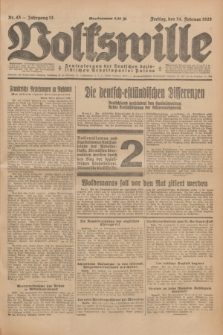 Volkswille : Zentralorgan der Deutschen Sozialistischen Arbeitspartei Polens. Jg.13, Nr. 45 (24 Februar 1928) + dod.