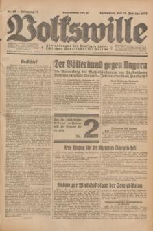 Volkswille : Zentralorgan der Deutschen Sozialistischen Arbeitspartei Polens. Jg.13, Nr. 46 (25 Februar 1928) + dod.