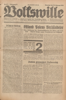Volkswille : Zentralorgan der Deutschen Sozialistischen Arbeitspartei Polens. Jg.13, Nr. 47 (26 Februar 1928) + dod.