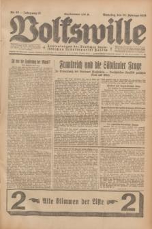 Volkswille : Zentralorgan der Deutschen Sozialistischen Arbeitspartei Polens. Jg.13, Nr. 48 (28 Februar 1928) + dod.