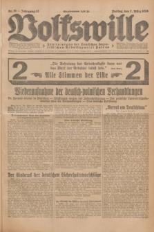 Volkswille : Zentralorgan der Deutschen Sozialistischen Arbeitspartei Polens. Jg.13, Nr. 51 (2 März 1928) + dod.