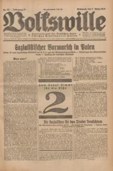 Volkswille : Zentralorgan der Deutschen Sozialistischen Arbeitspartei Polens. Jg.13, Nr. 55 (7 März 1928) + dod.