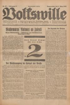 Volkswille : Zentralorgan der Deutschen Sozialistischen Arbeitspartei Polens. Jg.13, Nr. 56 (8 März 1928) + dod.