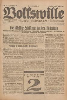 Volkswille : Zentralorgan der Deutschen Sozialistischen Arbeitspartei Polens. Jg.13, Nr. 57 (9 März 1928) + dod.
