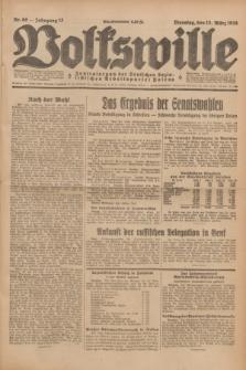 Volkswille : Zentralorgan der Deutschen Sozialistischen Arbeitspartei Polens. Jg.13, Nr. 60 (13 März 1928) + dod.