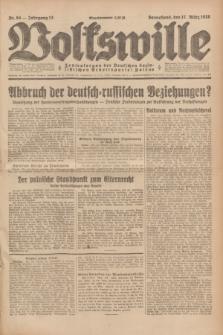 Volkswille : Zentralorgan der Deutschen Sozialistischen Arbeitspartei Polens. Jg.13, Nr. 64 (17 März 1928) + dod.