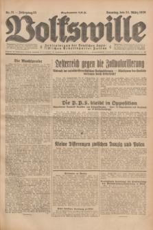 Volkswille : Zentralorgan der Deutschen Sozialistischen Arbeitspartei Polens. Jg.13, Nr. 71 (25 März 1928) + dod.