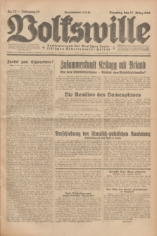 Volkswille : Zentralorgan der Deutschen Sozialistischen Arbeitspartei Polens. Jg.13, Nr. 72 (27 März 1928) + dod.