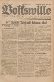 Volkswille : Zentralorgan der Deutschen Sozialistischen Arbeitspartei Polens. Jg.13, Nr. 74 (29 März 1928) + dod.
