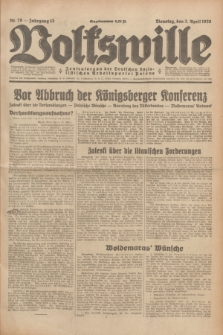 Volkswille : Zentralorgan der Deutschen Sozialistischen Arbeitspartei Polens. Jg.13, Nr. 78 (3 April 1928) + dod.