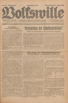 Volkswille : Zentralorgan der Deutschen Sozialistischen Arbeitspartei Polens. Jg.13, Nr. 80 (5 April 1928) + dod.
