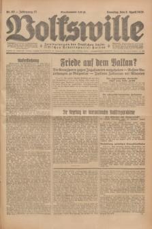 Volkswille : Zentralorgan der Deutschen Sozialistischen Arbeitspartei Polens. Jg.13, Nr. 83 (8 April 1928) + dod.