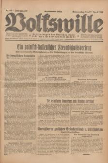 Volkswille : Zentralorgan der Deutschen Sozialistischen Arbeitspartei Polens. Jg.13, Nr. 85 (12 April 1928) + dod.