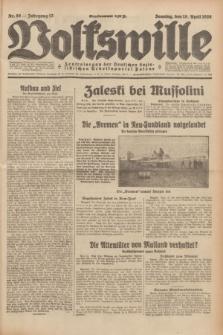 Volkswille : Zentralorgan der Deutschen Sozialistischen Arbeitspartei Polens. Jg.13, Nr. 88 (15 April 1928) + dod.
