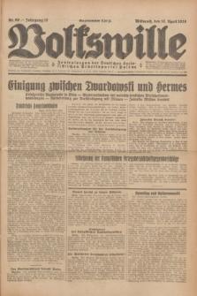 Volkswille : Zentralorgan der Deutschen Sozialistischen Arbeitspartei Polens. Jg.13, Nr. 90 (18 April 1928) + dod.