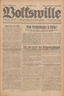 Volkswille : Zentralorgan der Deutschen Sozialistischen Arbeitspartei Polens. Jg.13, Nr. 91 (19 April 1928) + dod.