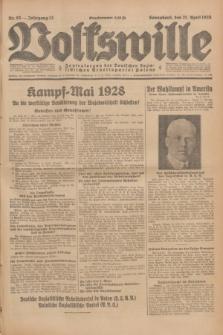 Volkswille : Zentralorgan der Deutschen Sozialistischen Arbeitspartei Polens. Jg.13, Nr. 93 (21 April 1928) + dod.